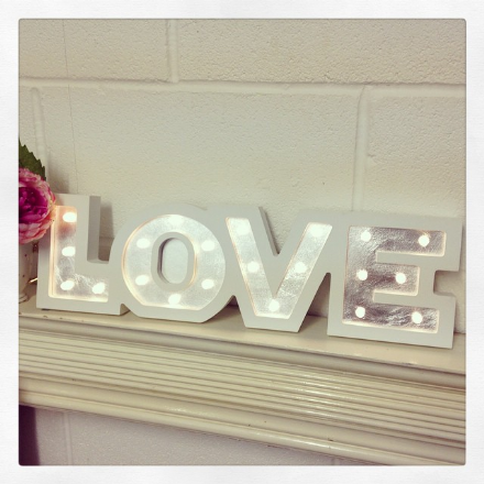 50% OFF Love Letters LED Lights White